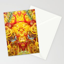 Oriental Style Swirls and Curls Stationery Cards