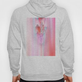 Abstract Cascade Glitch 2.Red and Pink Hoody