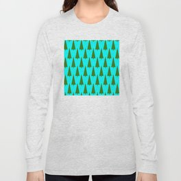 Contemporary Christmas Trees Pattern Long Sleeve T-shirt