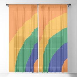 Citrus Bow Sheer Curtain