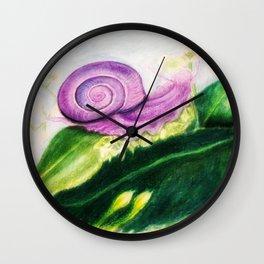 The Purple Snail Wall Clock