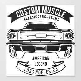 custom muscle Canvas Print