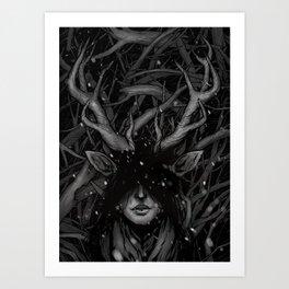 Deer Woman Kunstdrucke