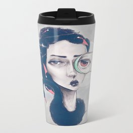 Rare Royal through the looking glass Metal Travel Mug