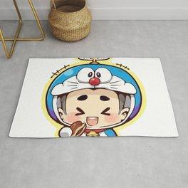 Doraemon chibi cosplay Rug