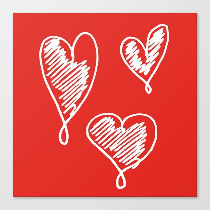 friends hearts Canvas Print