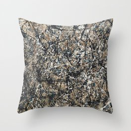 Jackson Pollock - One: No. 31, 1950 - Exhibition Poster Throw Pillow