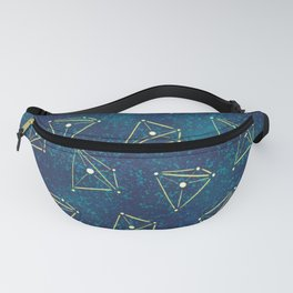 Tetrahedral Molecular Geometry Constellation Art Fanny Pack