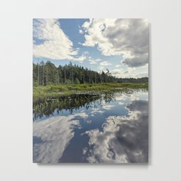 clouds and reflections Metal Print