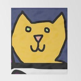 Woman yelling at cat Meme - Detail 3 Throw Blanket