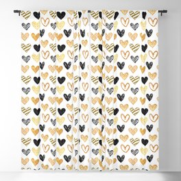 Pattern from painted hearts Blackout Curtain