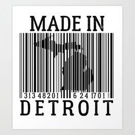 MADE IN DETROIT Bar Code Art Print