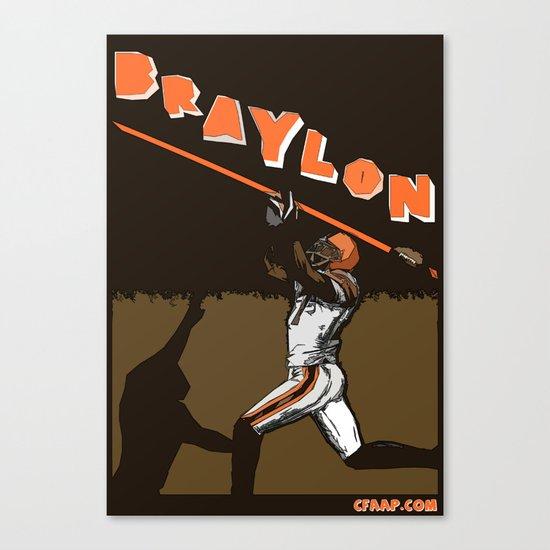 "Braylon Edwards ""Drop"" Poster Canvas Print"