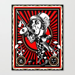 Hatter Red Canvas Print