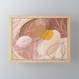 Abstract Peach Framed Mini Art Print