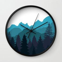 Blue Woods Wall Clock
