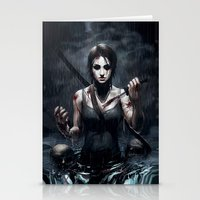 tomb raider Stationery Cards featuring Tomb Raider by Max Grecke