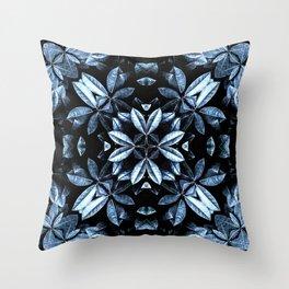 METALLIC LEAVES MANDALA Throw Pillow