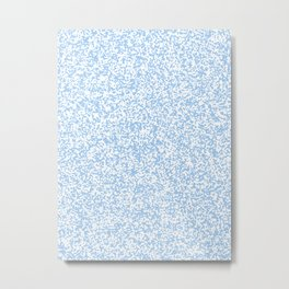 Tiny Spots - White and Baby Blue Metal Print