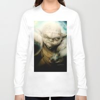 yoda Long Sleeve T-shirts featuring Yoda by Colunga-Art