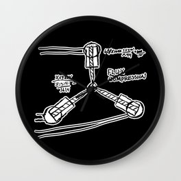Back to the Future: Flux capacitor Wall Clock