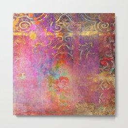 Boho Rose Metal Print