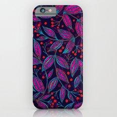 RED BERRIES PINK LEAVES iPhone 6s Slim Case