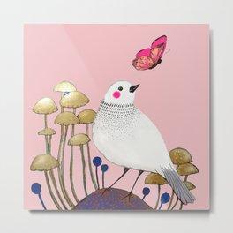pink wall Metal Print