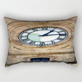 Town Clock Rectangular Pillow