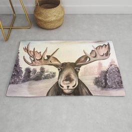 Smirking Moose Rug