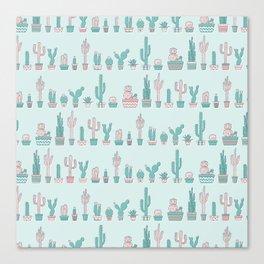 Boho cactus Canvas Print