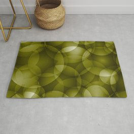 Dark intersecting translucent olive circles in bright colors with an oily glow. Rug