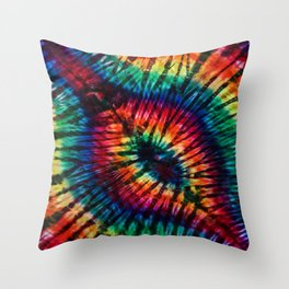 Tye Dye Rainbow Singularity Throw Pillow