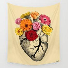 Flower Heart Wall Tapestry