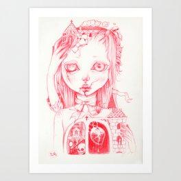 Dollhouse Heart Art Print