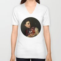 gravity V-neck T-shirts featuring Gravity by DIVIDUS