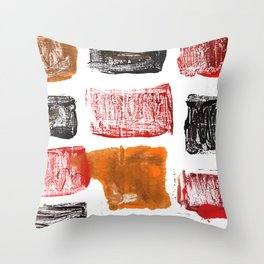 Licorice abstract watercolor Throw Pillow