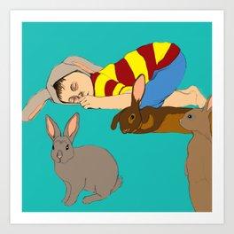 Bunny Boy Art Print