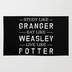 STUDY LIKE GRANGER, EAT LIKE WEASLEY, LIVE LIKE POTTER Rug