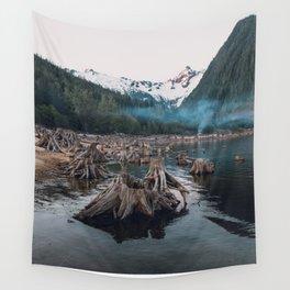 A Stumpy Morning - British Columbia, Canada Wall Tapestry