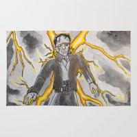 frankenstein Area & Throw Rugs featuring Frankenstein by GlenX10