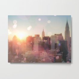 New York City Skyline Love Metal Print