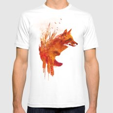 Plattensee Fox Mens Fitted Tee White X-LARGE