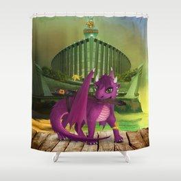 Dragonlings of Valdier: Jade Shower Curtain