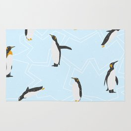 Penguins on Ice Floes Rug
