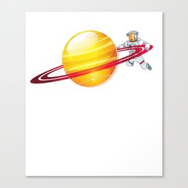 Planet Orbit Galaxy Outer Space Aeronautics Astronaut Canvas Print