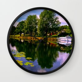 River Perspective. Wall Clock