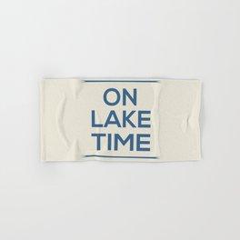 On Lake Time Hand & Bath Towel