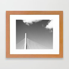 Zakim Bridge Boston Framed Art Print