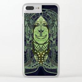 Green Tiki Clear iPhone Case